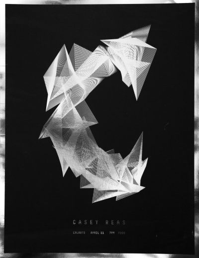 CalArts poster: Casey Reas by