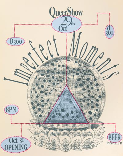 CalArts poster: Imperfect Moments by Salman Ahmad