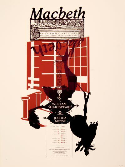 CalArts poster: Macbeth by Ed Rick