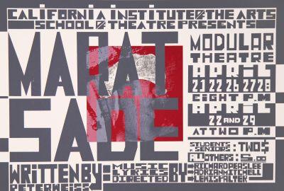 CalArts poster: Marat Sade by Mark Shultz