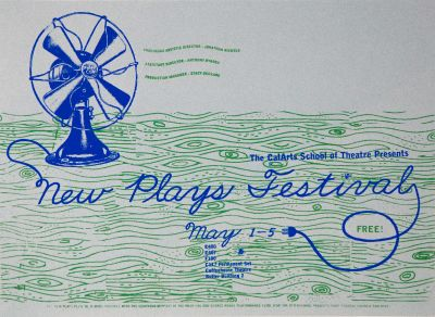 CalArts poster: New Plays Festival by