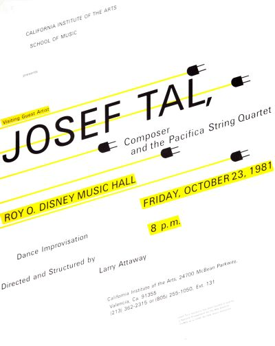 CalArts poster: Josef Tal by