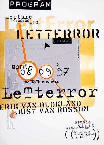 CalArts poster: LettError: Erik van Blokland / Just van Rossum by HweeMin Loi Shu-Shi Chang