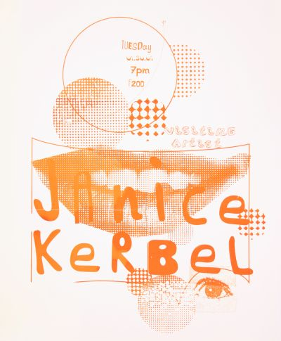 CalArts poster: Janice Kerbel by