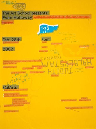 CalArts poster: Evan Holloway by