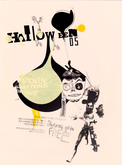 CalArts poster: 2005 Halloween: Avenue of Shattered Dreams by