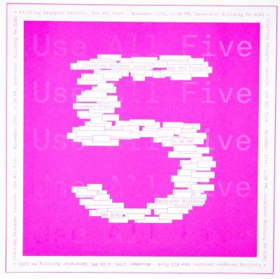 CalArts poster: Use All Five by Cris Hernandez Junki Hong