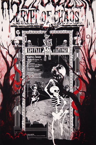 CalArts poster: 2017 Halloween: Crypt of Chaos by Minjoo Cho Ray Shin