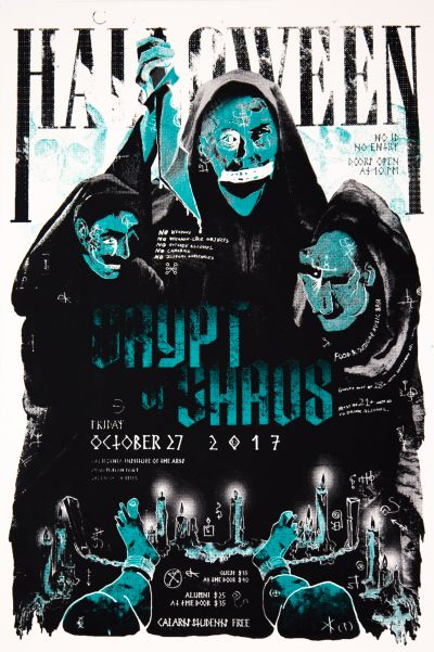 CalArts poster: 2017 Halloween: Crypt of Chaos by Andrea Yasko Spencer Abrams