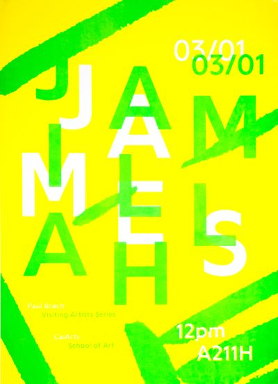 CalArts poster: Jamillah James by Lisa Armstrong