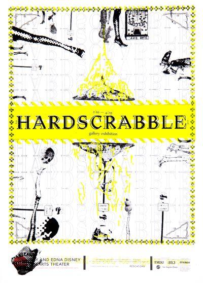 CalArts poster: REDCAT: Hardscrabble by Megan Kim