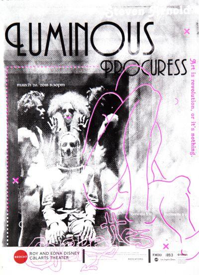 CalArts poster: REDCAT: Luminous Procuress by Marina Liu
