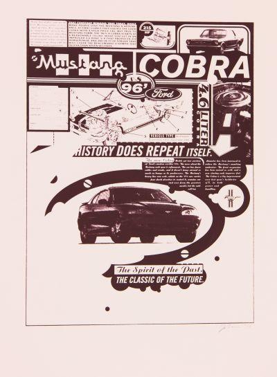 CalArts poster: Mustang Cobra by Joseph Monnens