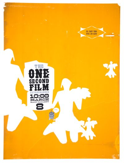 CalArts poster: The One Second Film Extravaganza by