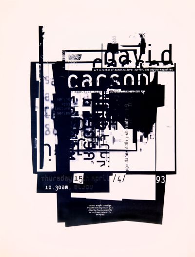 CalArts poster: David Carson by Conor Mangat