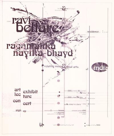 CalArts poster: Ravi Bellare by Deborah Littlejohn Shawn McKinney