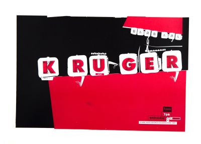 CalArts poster: Barbara Kruger by Michael Worthington