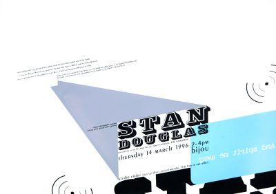 CalArts poster: Stan Douglas by Kevin Lyons