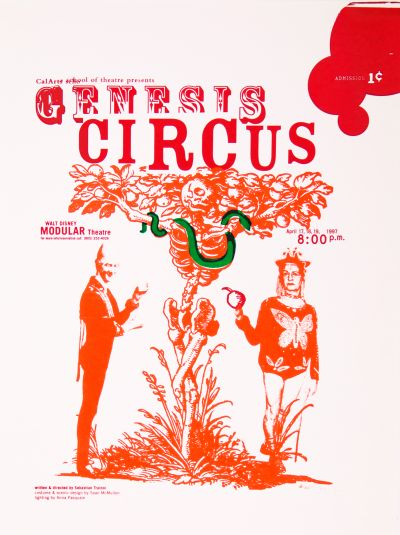 CalArts poster: Genesis Circus by Dennis Toyoda