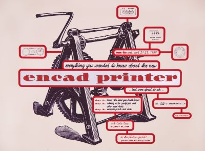 CalArts poster: Printmaking Lab: Encad Printer by