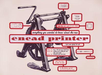 CalArts poster: Printmaking Lab: Encad Printer by Peter Mühlfriedel Carlos Rosas