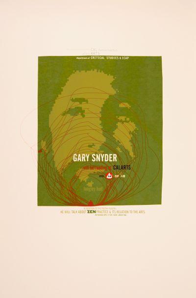 CalArts poster: Gary Snyder by Jonathan Notaro