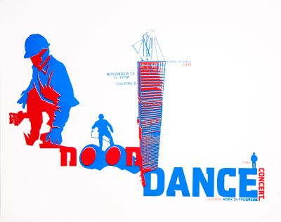 CalArts poster: Noon Dance Concert: Caution Work In Progress by