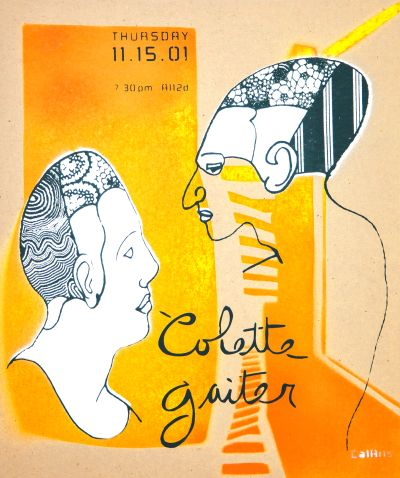 CalArts poster: Colette Gaiter by Lehze Flax