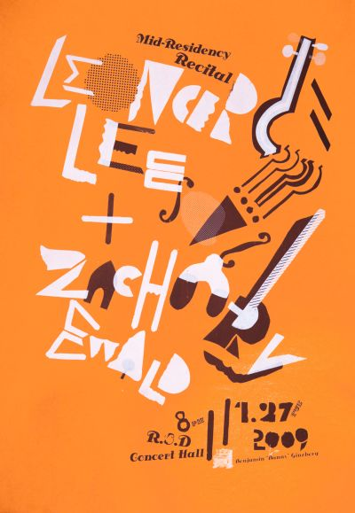 CalArts poster: Mid-Residency Recital: Leonard Lee & Zachary Ewald by