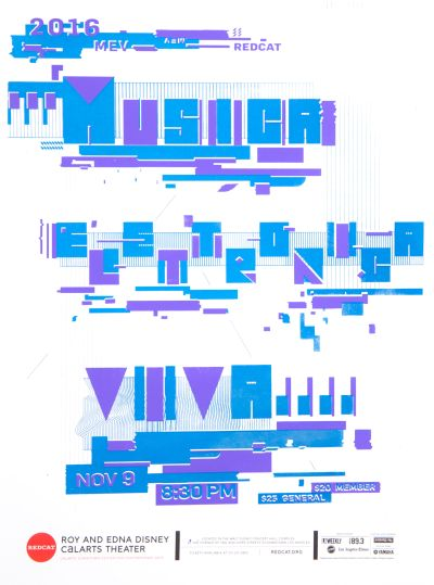 CalArts poster: REDCAT: Musica Elettronica Viva by Nadia Korepanova Sam Jung