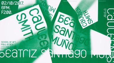 CalArts poster: Cauleen Smith & Beatriz Santiago Munoz by Junki Hong