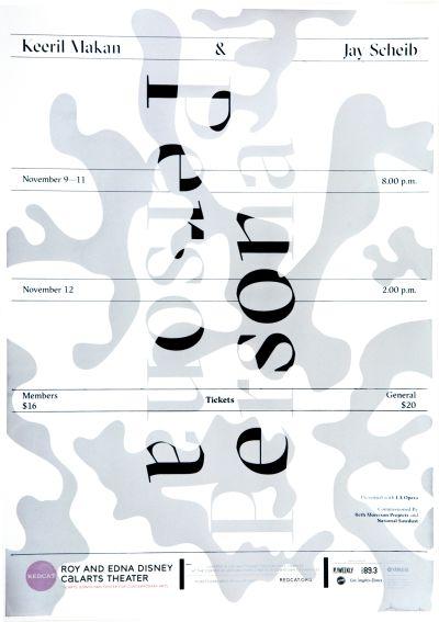 CalArts poster: REDCAT: Keeril Makan and Jay Scheib by Benjamin Macias Junki Hong