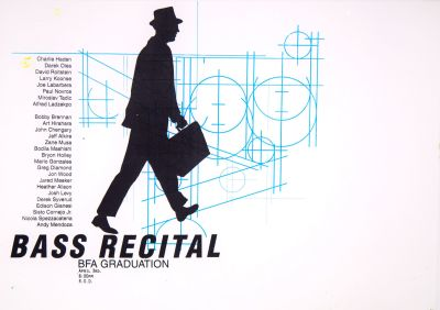 CalArts poster: BFA Graduation Bass Recital by