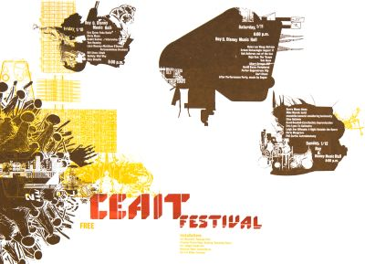 CalArts poster: CEAIT Festival by