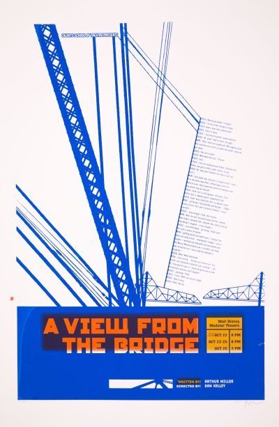 CalArts poster: A View From The Bridge by Jamandru Reynolds