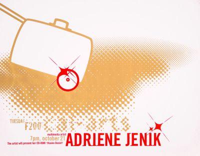 CalArts poster: Adriene Jenik by Pirco Wolfframm
