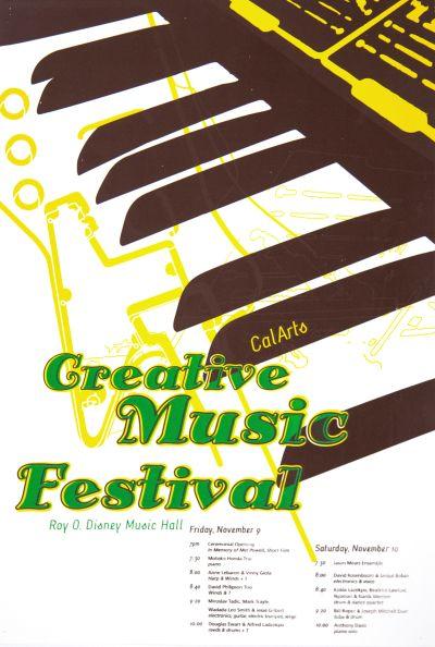 CalArts poster: CalArts Creative Music Festival by