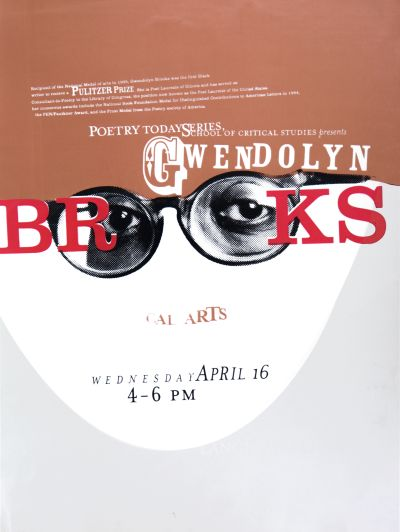 CalArts poster: Poetry Today Series: Gwendolyn Brooks by