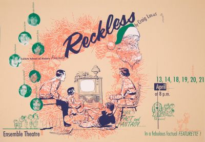 CalArts poster: Reckless By Craig Lucas by Salman Ahmad