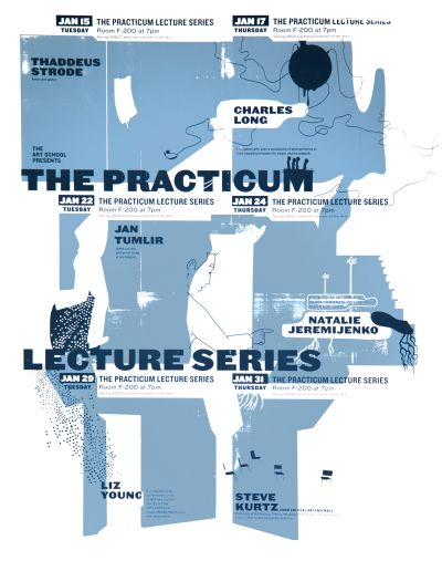CalArts poster: 2002 The Practicum Lecture Series by