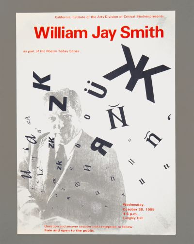 CalArts poster: William Jay Smith by