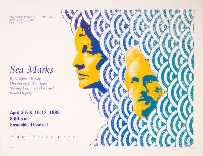 CalArts poster: Sea Marks by Lynn Karpinski