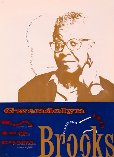 CalArts poster: Gwendolyn Brooks by Denise DeRossett
