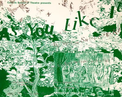 CalArts poster: As You Like It by