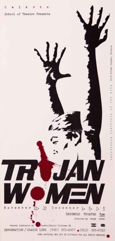 CalArts poster: Trojan Women by Oscar Giner by