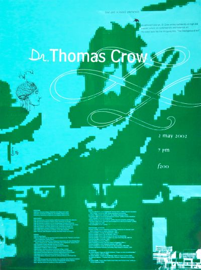 CalArts poster: Dr. Thomas Crow by Grace Kendall