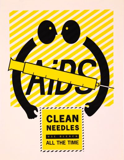 CalArts poster: AIDS: Clean Needles by