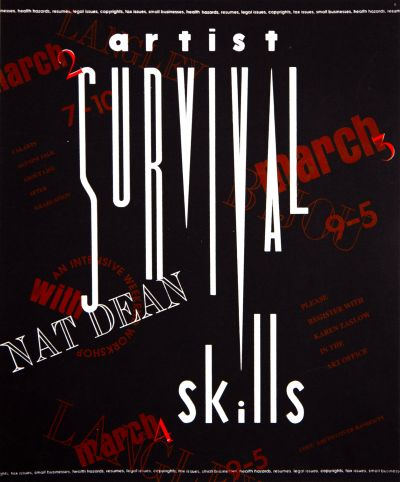CalArts poster: Artist Survival Skills by Betsey Aronson