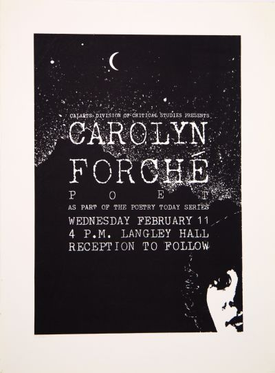 CalArts poster: Carolyn Forche by