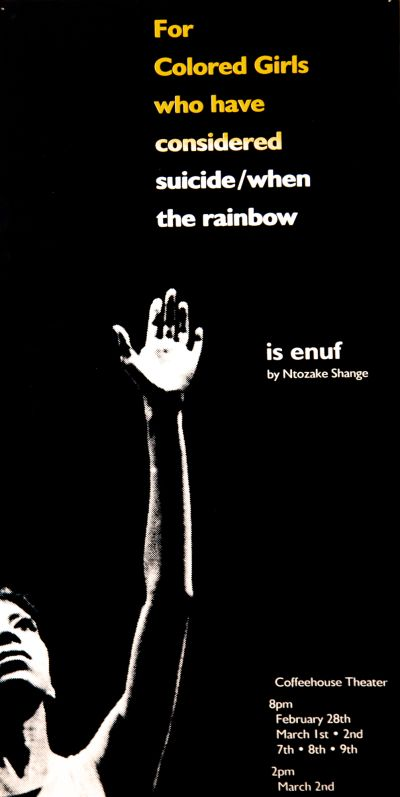 CalArts poster: Is Enuf by Ntozake Shange by